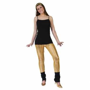 Originele gouden legging puntige gaten carnavalskleding