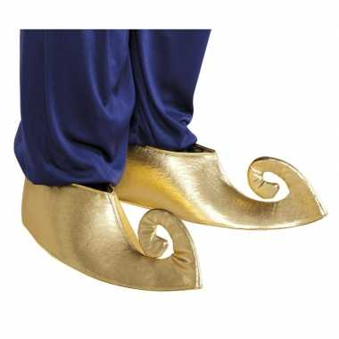 Originele gouden sultan overschoenen volwassenen carnavalskleding