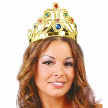 Originele gouden verkleed kroon prinsessen carnavalskleding