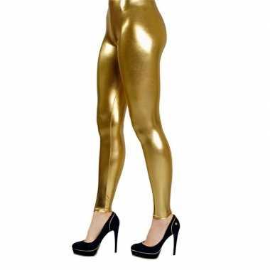 Originele gouden verkleed legging dames carnavalskleding