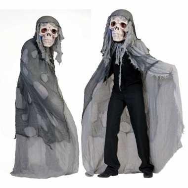 Originele grijs doodshoofd spook carnavalskleding