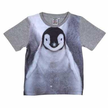 Originele grijs t shirt pingu?n kinderen carnavalskleding