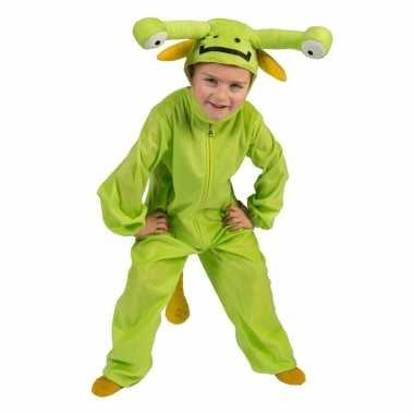 Originele groen marsmannetje verkleed carnavalskleding kinderen