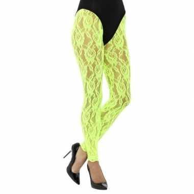 Originele groene jaren panty dames carnavalskleding