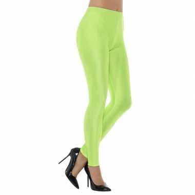 Originele groene spandex verkleed legging dames carnavalskleding