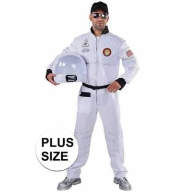 Originele grote maat astronaut verkleed carnavalskleding heren
