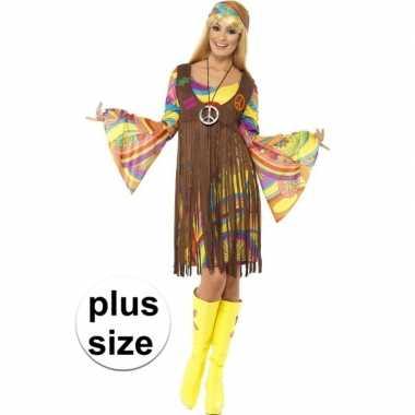 Originele grote maat hippie carnavalskleding gilet dames
