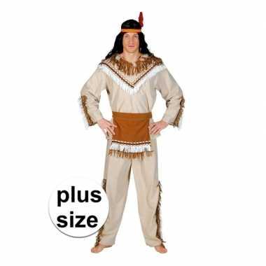 Originele grote maat indiaan adahy verkleed carnavalskleding heren