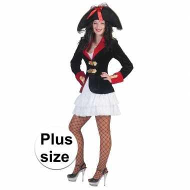 Originele grote maat piraten carnavalskleding colbert dames