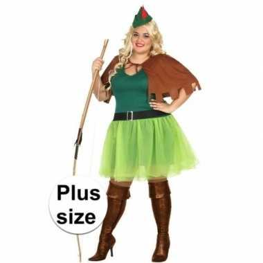 Originele grote maten robin hood carnavalskleding dames