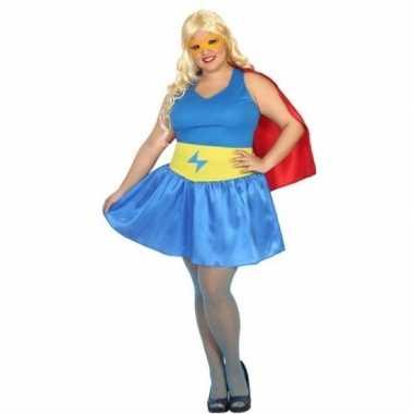 Originele grote maten supergirl carnavalskleding/carnavalskleding dam