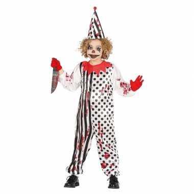 Originele halloween carnavalskledings horror pierrot kids