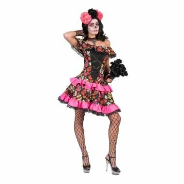 Originele halloween day of the dead halloween carnavalskleding dames