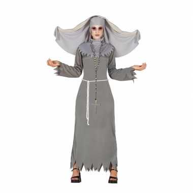 Originele halloween grijze geest nonnen carnavalskleding dames