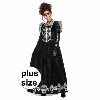 Originele halloween grote maat day of the dead halloween gothic carna