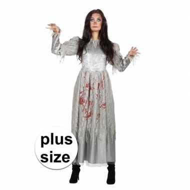 Originele halloween grote maat zombie halloween bruidscarnavalskledin
