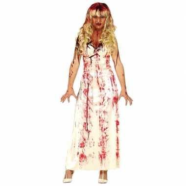 Originele halloween horror carnavalskleding lange bloederige witte ca