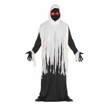 Originele halloween horror spook carnavalskleding lichtgevende ogen