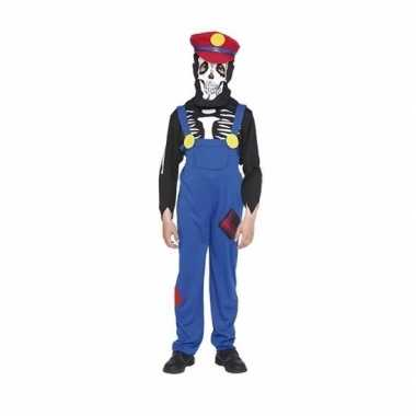 Originele halloween loodgieter halloween skelet carnavalskleding kind