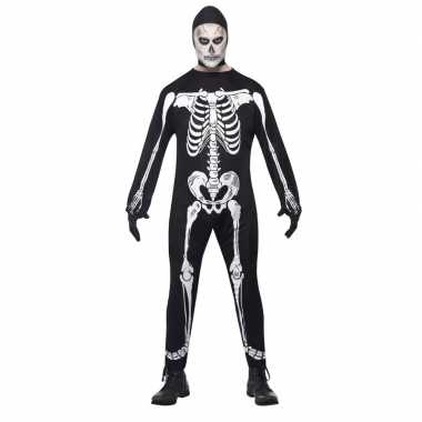 Originele halloween skelet carnavalskleding volwassenen