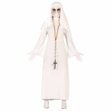 Originele halloween spookachtige nonnen carnavalskleding dames