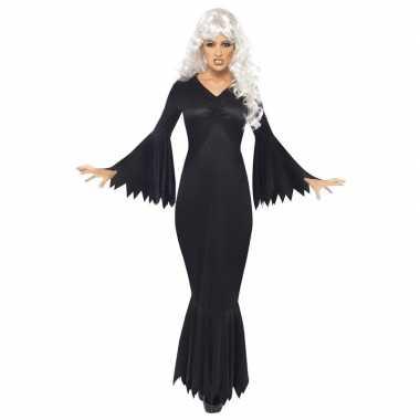 Originele halloween vampieren carnavalskleding zwart dames