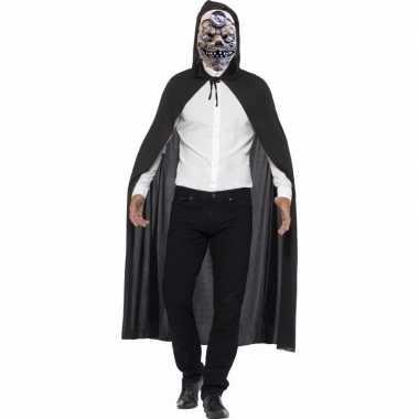 Originele halloween verkleed cape mad doctor masker carnavalskleding