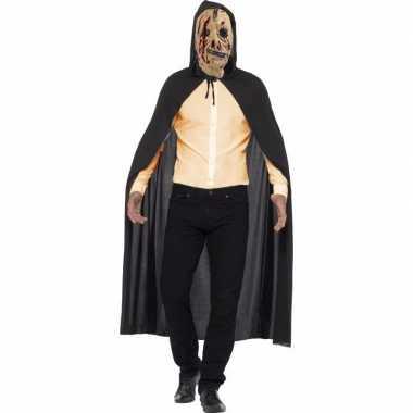 Originele halloween verkleed cape zombie rits masker carnavalskleding