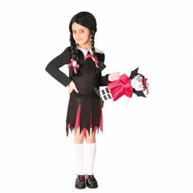 Originele halloween wednesday verkleed carnavalskleding meisjes