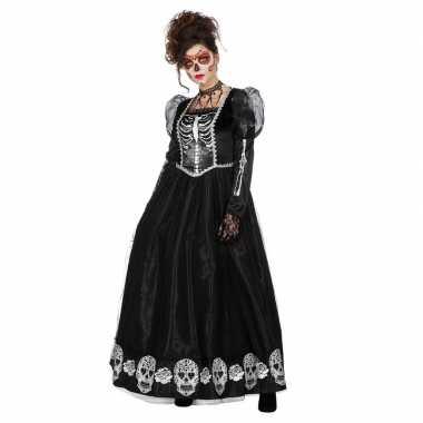 Originele halloween zwarte gothic day of the dead halloween carnavals