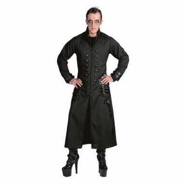 Originele halloween zwarte gothic/vampier jas carnavalskleding heren