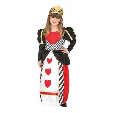 Originele hartenkoningin carnavalskleding meisjes