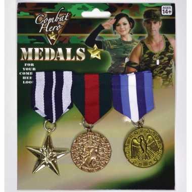 Originele helden medailles carnavalskleding