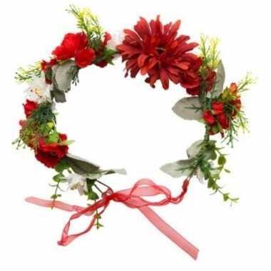 Originele hippie/flower power verkleed bloemen hoofdband carnavalskle