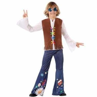 Originele hippie/flower power verkleed carnavalskleding jongens