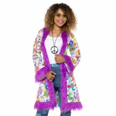 Originele hippie groovy jas dames carnavalskleding