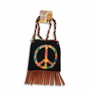 Originele  Hippie jaren zestig tas Peace carnavalskleding