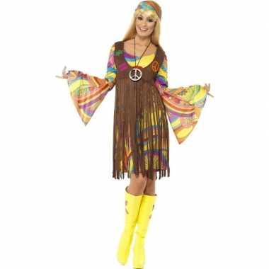 Originele hippie verkleed carnavalskleding gilet dames