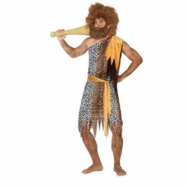 Originele holbewoner/caveman alley verkleed carnavalskleding heren
