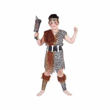 Originele  Holbewoner verkleed -carnavalskleding kinderen
