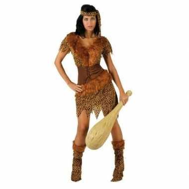 Originele holbewoonster/cavewoman ayla verkleed carnavalskleding/carn