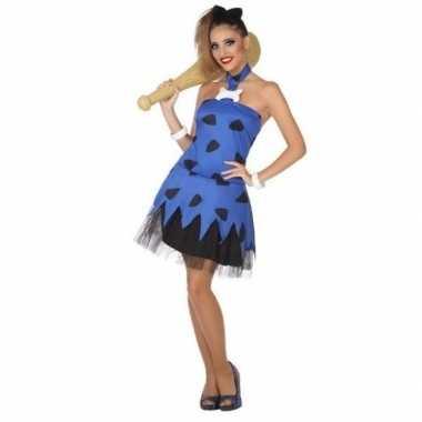 Originele holbewoonster/cavewoman betty verkleed carnavalskleding/car