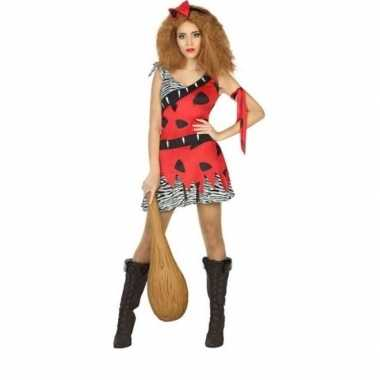Originele holbewoonster/cavewoman loana verkleed carnavalskleding/car