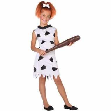 Originele holbewoonster/cavewoman wilma verkleed carnavalskleding/car