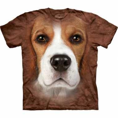 Originele honden t shirt beagle volwassenen carnavalskleding
