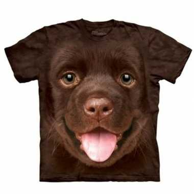 Originele honden t shirt bruine labrador puppy kinderen carnavalskled