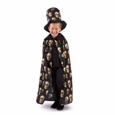 Originele horror cape schedel jongens carnavalskleding
