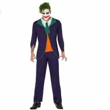 Originele horrorclown carnavalskleding joker heren