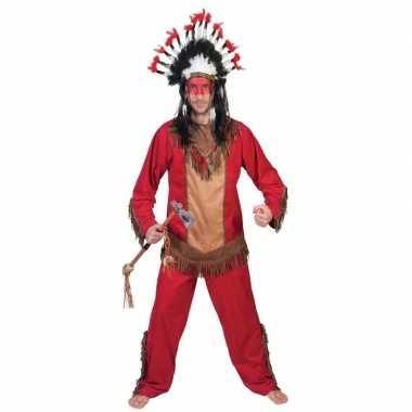 Originele indiaan lootah verkleed carnavalskleding heren