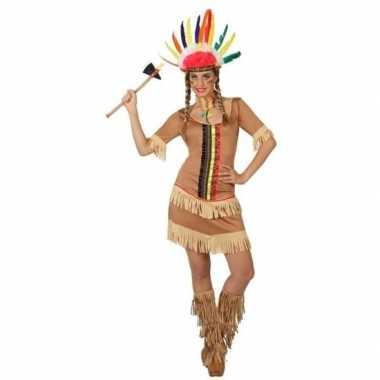 Originele indianen manipi verkleed carnavalskleding/carnavalskleding